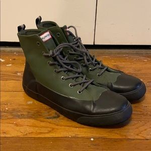 Hunter for Target Green & Black Lace Up Rain Boots